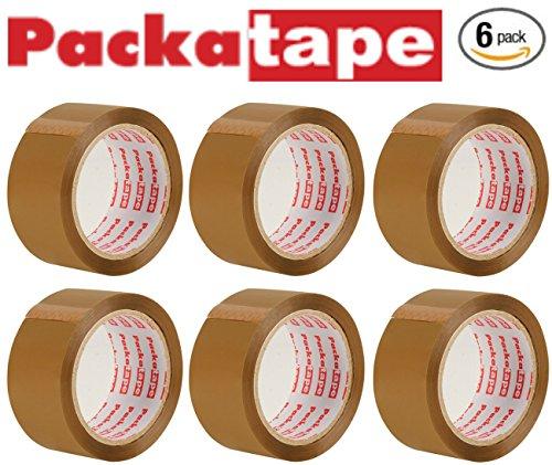 Preisvergleich Produktbild Packatape®  6 Rollen 48mm x 66m Braunes Paket-Klebeband für Päckchen und Kisten. Mit diesem 6er Pack hochleistungs-Klebeband erwerben sie ein sicheres, klebestarkes Verschlussmaterial für ihre Pakete auf das sie sich verlassen können.