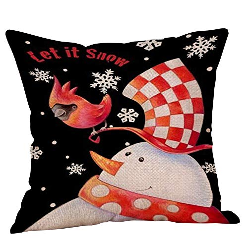 ZahuihuiM Weihnachten Weihnachten Schneemann Kissenbezug Dekokissen Fall Schlafsofa Home Decor -