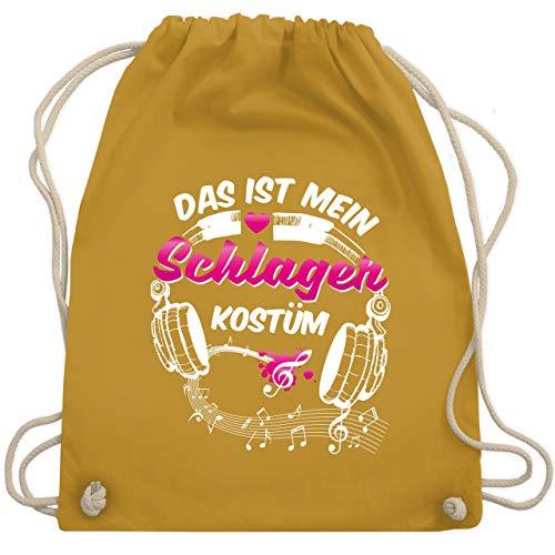 Karneval & Fasching - Das ist mein Schlager Kostüm - Unisize - Senfgelb - WM110 - Turnbeutel & Gym Bag
