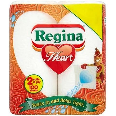 Regina del corazón de toalla de cocina 2 rollos unidades 10