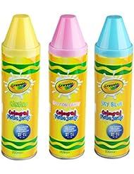 Crayola ENFANTS BAIN DOUCHE EN COULEUR GEL MOUSSE Savon crayons de couleur sécurité Bathtime amusant - un de chaque...
