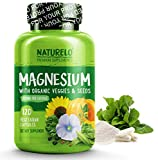 NATURELO Magnesium Supplement - 200 mg per Capsule - with Vegetables & Seeds