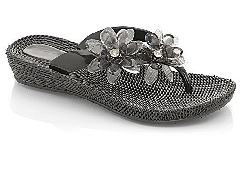 Foster Footwear - Retro aperto bambina donna Black