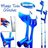 Invacare® 'Magic Twin' stabile, verstellbare Krücken (Blau)