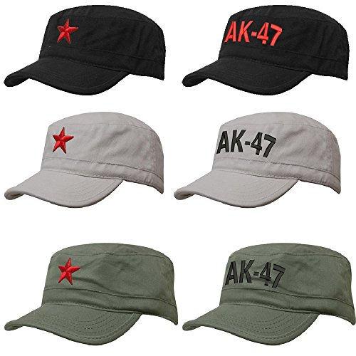 Unisex SOVIET Army Russian Red Star AK 47 Hat Cap Fancy DressTrapper
