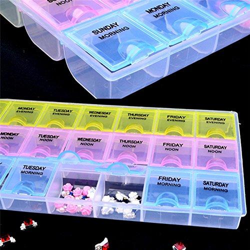 Bureze 21 Grilles Plastique à ongles outils Boîte de rangement ongles Art strass Décoration Coque