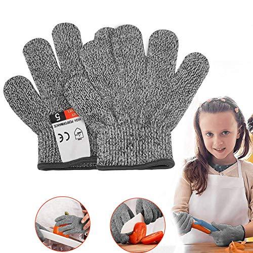 Schnittsichere Handschuhe für Kinder - Leistungsfähiger Level 5 Schutz, lebensmittelecht, Geeignet für 3-5 Jährige, XXXS