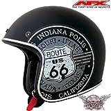 AFX FX76 JET MOTORRAD HELM MATT SCHWARZ BOBBER HARLEY CHOPPER CAFERACER CUSTOM (L)
