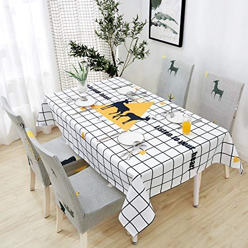 chenbyyao Baumwolle und Leinen klein frisch wasserdicht mit dem gleichen Stuhlbezug (ohne Tischdecke) 6 mal gut,Stuhlabdeckung elastisch, Microfiber Spannbezug mit Gummizug