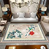 Moderne Minimaliste Salon Tapis Chinois Canapé/Table de Table Tapis Rectangulaire Chambre Chevet (Couleur : K, taille : 1.4m×2m)...