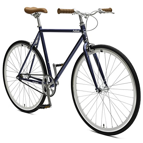 Critical Cycles Harper Fixed Gear Urban Commuter Single Speed Bike, Pacific Blue, 57cm