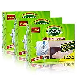 3x Globol Mückenstecker - Wirkt 45 Nächte ohne nachzufüllen