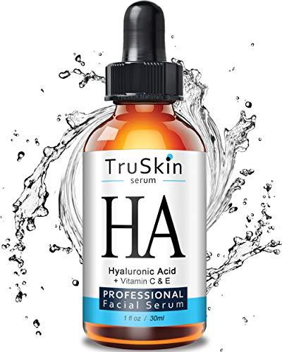 TrueSkin Naturals Le sérum acide hyaluronique pour la peau et le visage à la vitamine C, vitamine E, Aloe bio, huile de Jojoba bio