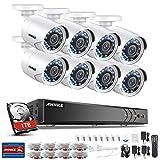 ANNKE Système de caméras de vidéosurveillance 8 + 2 canaux 3MP H.264 + DVR et 8 × 1080P Starlight DE-Noise FHD caméras Bullet résistantes aux intempéries Alerte par Email avec des instantanés,HDD 1TB