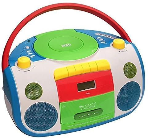 HARLEKIN TRAGBARER KINDER RADIO-KASSETTEN-CD PLAYER | STEREOANLAGE | BOOMBOX |