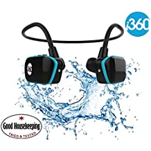 Reproductor de MP3 para nadar Sumergible hasta 3 metros - Reproductor de MP3 inalámbrico de 8GB