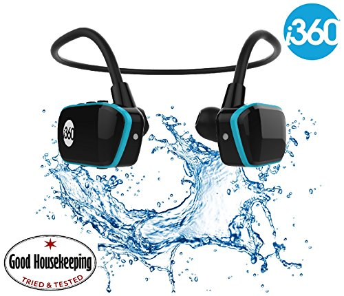 i360 Schwimmen MP3-Player Unterwasserwasserdicht bis 3 Meter - Wireless MP3 Player (8GB)