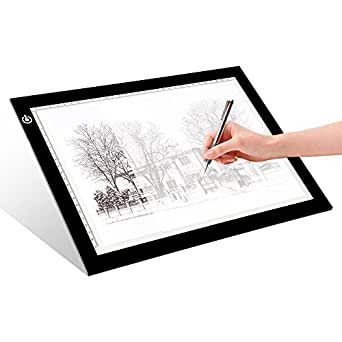 A4 tracing light box litenergy 9x12 inch light pad ultra for Lightbox amazon