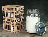 Cookut Creazy Set per Montare la Panna, Vetro, Trasparente, 10x12x18 cm