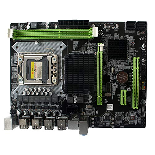 - LGA 1366 DDR3 Mainboard, X58 Desktop Computer Motherboard, Dual Channel DDR3 Speicher for E5520 E5540 L5638,Ect.(as shown) ()