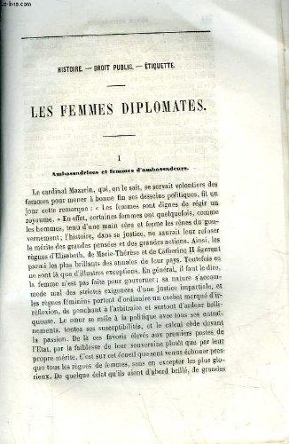 Extrait de la revue britannique - histoire - droit public - etiquette - les femmes diplomates