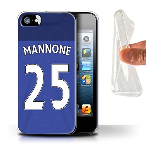 Offiziell Sunderland AFC Hülle / Gel TPU Case für Apple iPhone SE / Kaboul Muster / SAFC Trikot Home 15/16 Kollektion Mannone