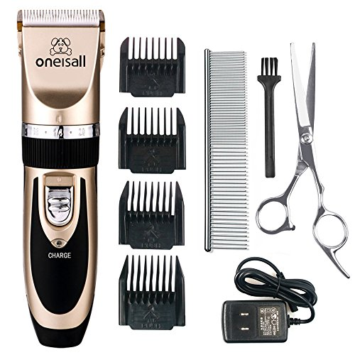 Pet-Grooming-Clipper-Kits-Low-noise-oneisall-Dog-and-Cat-Rechargeable-Cordless-Electric-Queit-Clippers-Set
