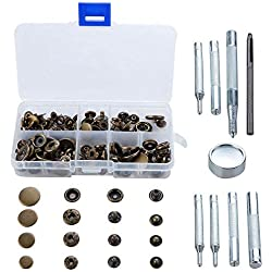LouisaYork Druckknopf-Werkzeug-Set, Nähen aus Metall, Metalldruck-Befestigungs- und Reparatur-Werkzeuge für Kleidung, Handwerk, Reparaturen, Dekoration, DIY-Projekte