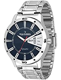 Ravinson 1702SM04D New Day N Date Blue Analog Stainless Steel Casual Watch For Men