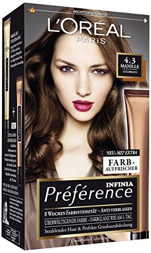 L'Oréal Paris Préférence, 4.3 Goldbraun, 3er Pack (3 x 1 Stück)