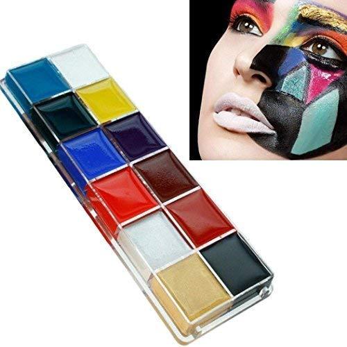Handwerk Farbe Ölgemälde 12 Farbe Kunst Make-Up Set für Thanksgiving Day/Weihnachten / Halloween/Party ()