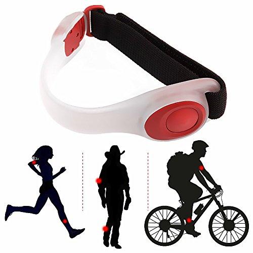 sband & Sicherheit Armband in dunkel für Laufen Radfahren Angeln Wandern Climping Camping, rot (Puppy Party Supplies)