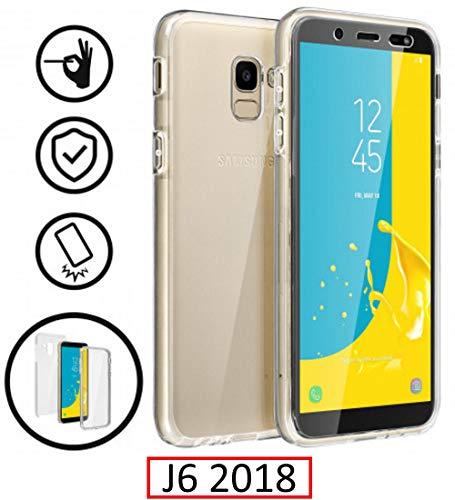 New & Teca–Carcasa 360Grado Samsung Galaxy J62018–Protección Integral Frontal + Trasera en rígida, Funda–Funda táctil 360Grado–antigolpes, Transparente J62018