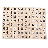 Winwinfly Scrabble Letters/Number for Crafts - Wood Scrabble Tiles-DIY Wood Gift Decoration
