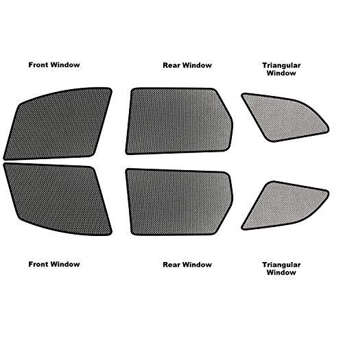 YEE PIN Auto Sonnenschutzrollos [Volvo XC60 2018 2019] Seitenfenster Innenmagnet Adsorptionsanlage Sonnenschutz Verdunkelungsvorhang Einwegperspektive Isolierung Atmungsaktiv Anti-Moskito (6 stück)