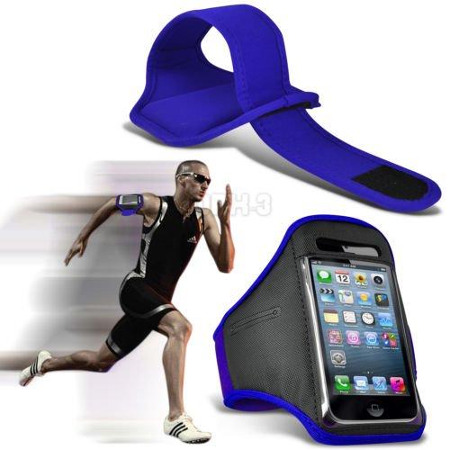Fonecase HTC One M8 Sport Armbänder mit dem Fahrrad Radfahren Fitnessstudio Joggen abzugewöhnen Armband Case Cover Blue (Htc One M8 Armband Geldbörse)