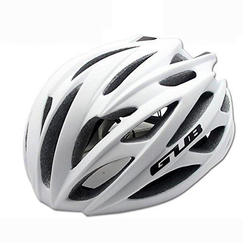 MIAO Fahrradhelm - Outdoor Männliche und weibliche Road / Mountain Bike Fahrradhelme mit Skelett , matte white