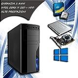PC FISSO COMPUTER DESKTOP INTEL CORE i7 - RAM 8 GB - SSD 120 HDD 1TB - VIDEO DEDICATA 1GB LICENZA ORIGINALE MICROSOFT WINDOWS 10 PRO