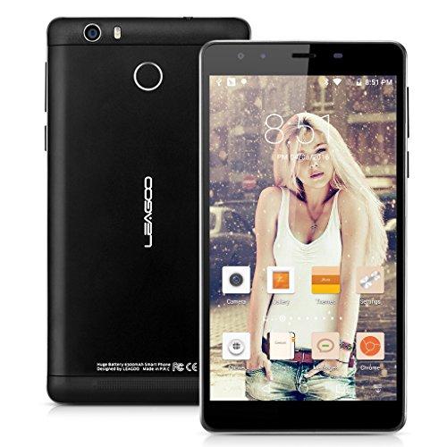 Leagoo Shark 1 Smartphone 4G LTE 6.0'' IPS FHD Android 5.1 MTK6735 Octa Core 1.3GHz 3GB RAM 16GB ROM 13.0MP Fotocamera Touch ID 6300mAh Cellulare Dual SIM GPS WIFI Nero