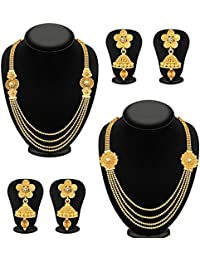 [Sponsored]YouBella Jewellery Gold Plated Combo Of Two Traditional Necklace For Girls Fashion Party Wear Jewellery Set With...