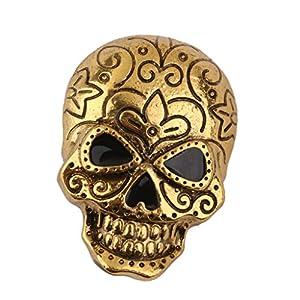 MagiDeal Schädel Brosche Dekoration Für Helloween Partybevorzugung Geschenk Antikes Golden