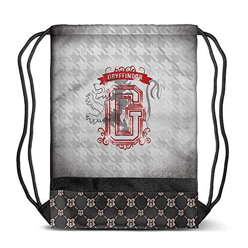 Karactermania Harry Potter Emblem Gryffindor, Bolsa de Cuerdas para el Gimnasio, 48 cm, Gris