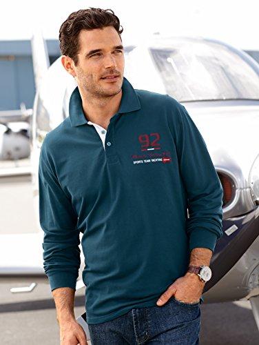 Herren Poloshirt 2er Pack Piqué langarm by BABISTA bordeaux & petrol