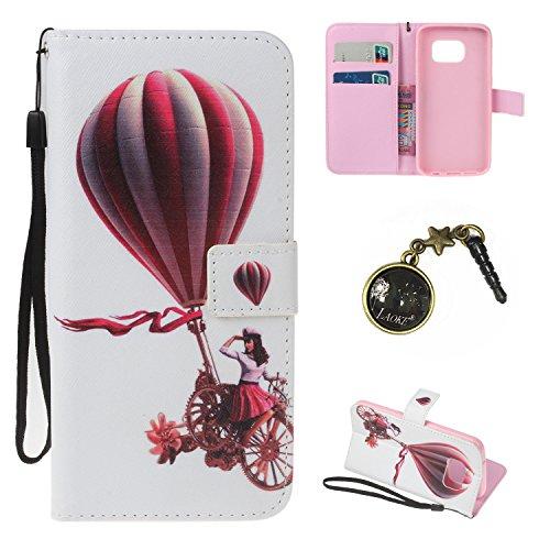 Preisvergleich Produktbild PU für Galaxy S7 Hülle case vintage ledertasche, Handy Schutzhülle für (Samsung Galaxy S7) Hülle Leder Wallet Tasche Flip Brieftasche Etui Schale (+Staubstecker) (3)