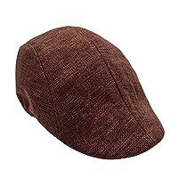 Clearance! MILL.GD88 Men Summer Visor Hat Sunhat Mesh Running Sport Casual Breathable Beret Flat Cap Coffee