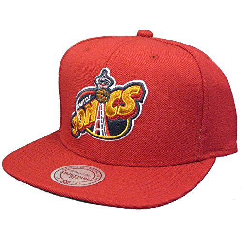 Preisvergleich Produktbild Mitchell & Ness Wool Solid 2 Seattle SuperSonics Snapback Cap - one size - rot