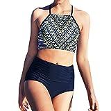 Frauen hohe Taille Bikinis Bademode Badeanzug weibliche Retro Beachwear Bikini Set
