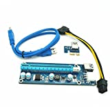 Covermason USB3.0 PCI Express 1x to 16x Extender Riser Card Adapter W / 24 inch Cable