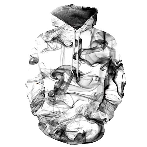 Unlimited energy Mens Womens Unisex 3D Gedrucktes Galaxie-Muster Plus Size Hoodied Sweatshirt
