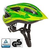 Ultrasport Confortable avec Son Rembourrage et système d'aération Casque de vélo Mixte Enfant, Vert, XS/S, 48-52 cm